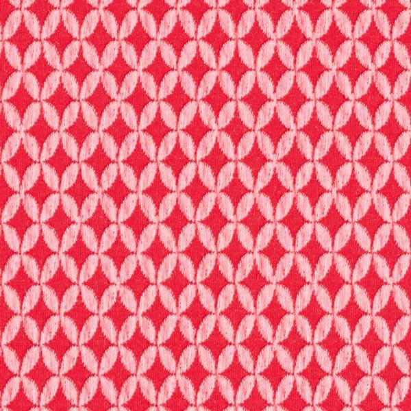 SAKURA Jacquardjersey 3D Shippou Knit GOTS – rot | Albstoffe | Hamburger Liebe
