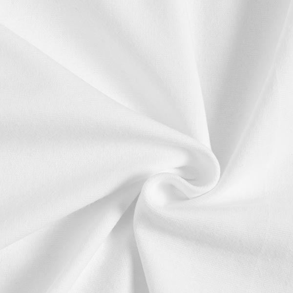 OCEAN LOVE Bord-côtes coton GOTS – blanc | Albstoffe