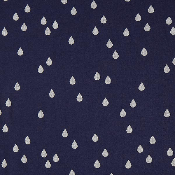 GLOW Glam Drops Jacquard – navy/argent | Albstoffe | Hamburger Liebe