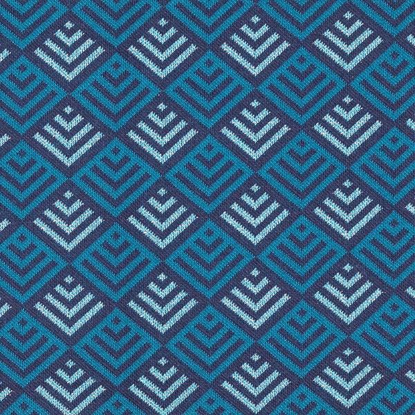 SPARKLE Jacquard maille Tiles – pétrole/bleu marine | Hamburger Liebe