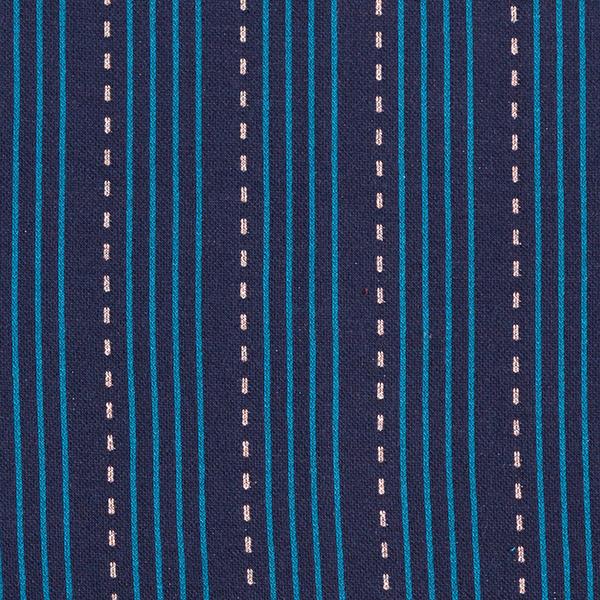 SPARKLE Jacquard maille Lines – bleu marine/pétrole   Hamburger Liebe