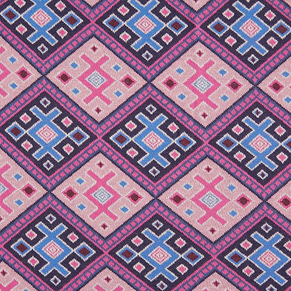 ORIENT OXIDENT Strick Jacquard Magic Carpet GOTS – marineblau/rosa | Albstoffe | Hamburger Liebe
