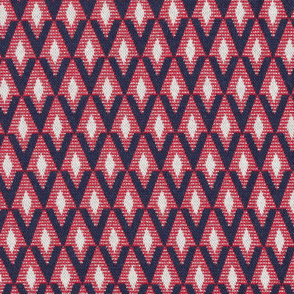 SHINE Strickjacquard Shine Bright mit Soft-Touch Lurex – rot/marineblau | Albstoffe | Hamburger