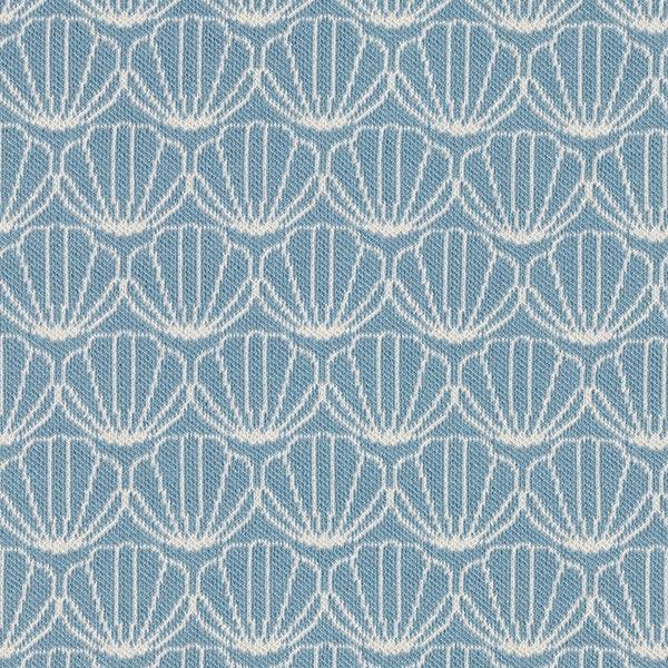 OCEAN LOVE Jacquard maille Moules GOTS – bleu pigeon/écru | Albstoffe