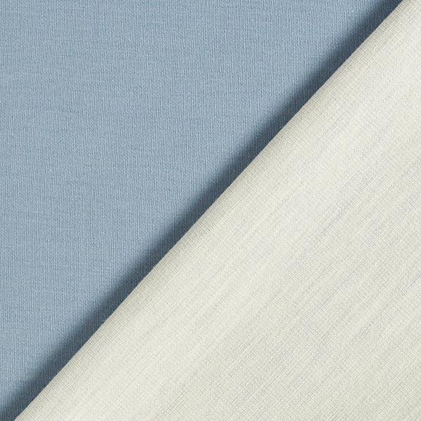 Jersey coton-laine double face GOTS | Albstoffe – gris bleu/nature