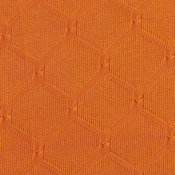 PLAIN STITCHES Cross Knitty Maille coton GOTS – terre cuite | Hamburger Liebe