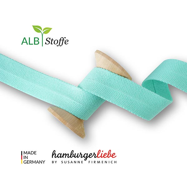 Liseré bio Edge Me [ 3,2 cm ] | Albstoffe – turquoise