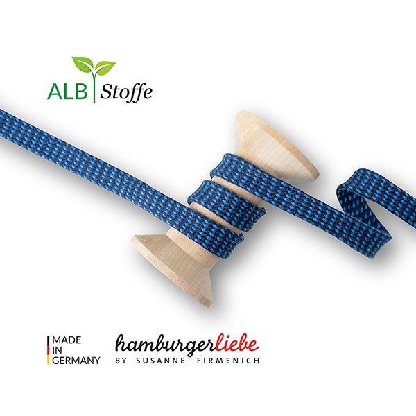Bio Flechtkordel Twist Me Dots [ 15 mm ] | Albstoffe – marineblau/blau