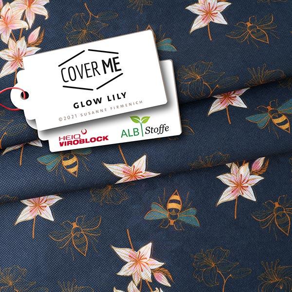 SHIELD CoverMe HEIQ Viroblock Glow Lily – marineblau | Albstoffe