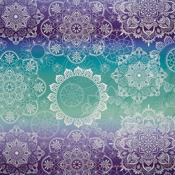 PERFORMANCE Jersey Aqua Circles – bleu aqua   Hamburger Liebe   Albstoffe