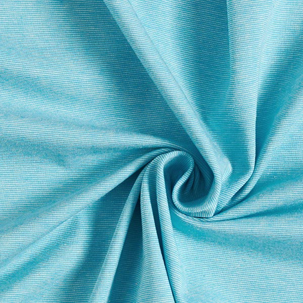 SUMMER MÉLANGE Jersey coton GOTS – bleu aqua | Hamburger Liebe