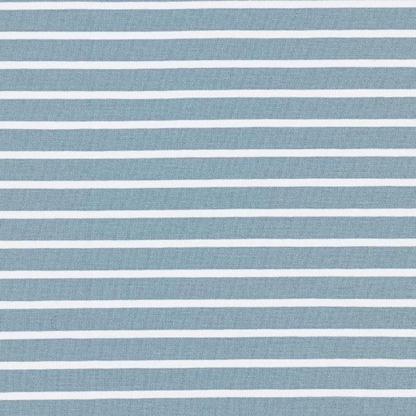 Albstoffe Jersey coton bande GOTS – bleu clair/blanc