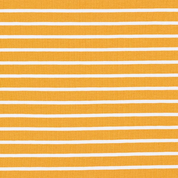 Jersey coton bande GOTS – curry/blanc | Albstoffe