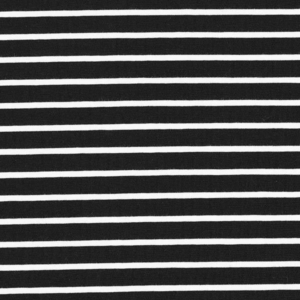 Jersey coton bande GOTS – noir/blanc   Albstoffe