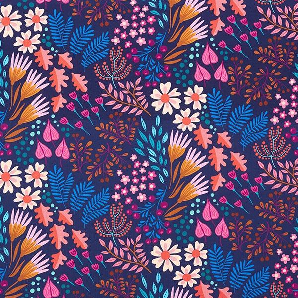 BLISS Flower Field Jersey GOTS – marineblau | Albstoffe | Hamburger Liebe