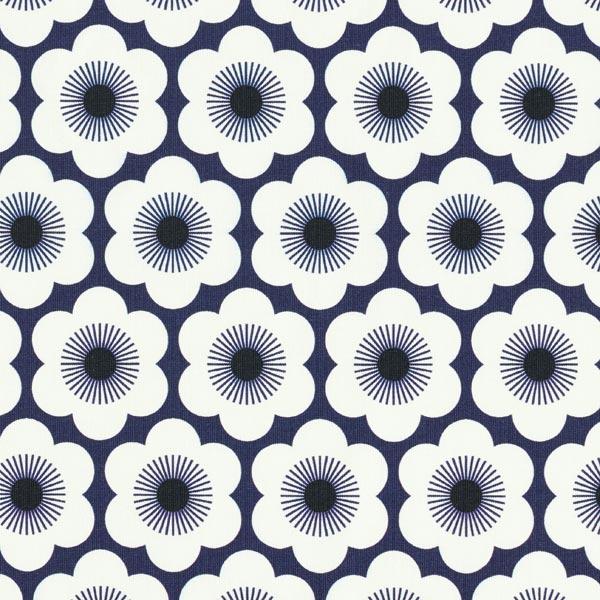 SAKURA Jersey Nippon Flowers GOTS – marineblau | Albstoffe | Hamburger Liebe
