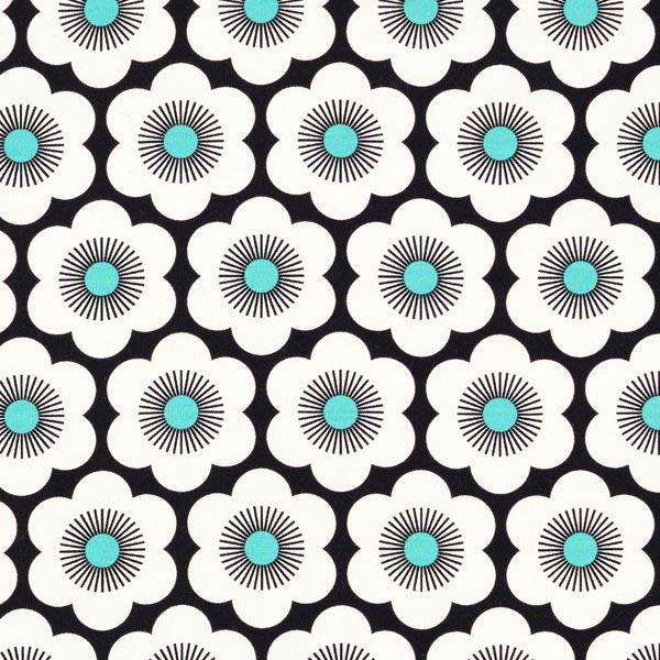 SAKURA Jersey Nippon Flowers GOTS – schwarz | Albstoffe | Hamburger Liebe