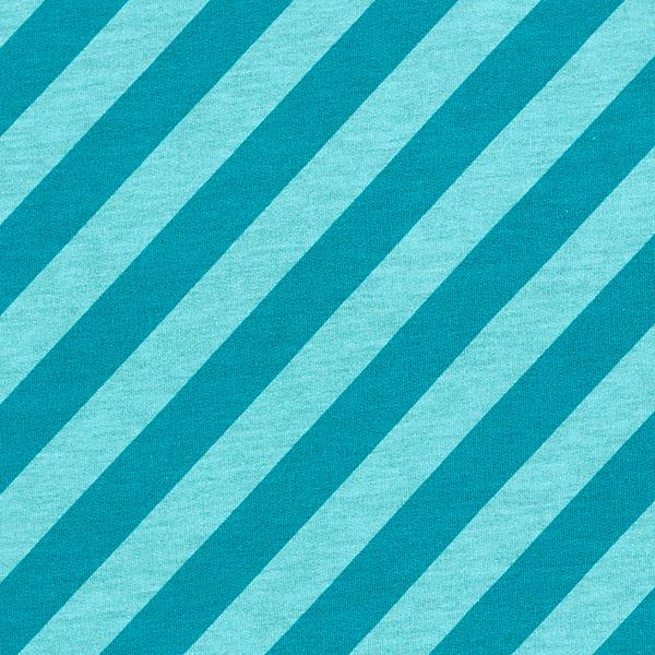 AHOY Sweat Nautic Stripes GOTS – aquablau | Albstoffe | Hamburger Liebe