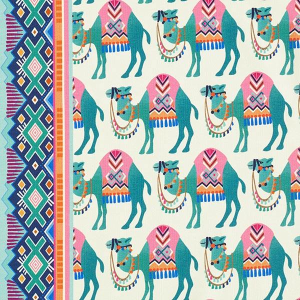 ORIENT OXIDENT Sweat Camel Ride GOTS – blanc/vert menthe   Albstoffe   Hamburger Liebe
