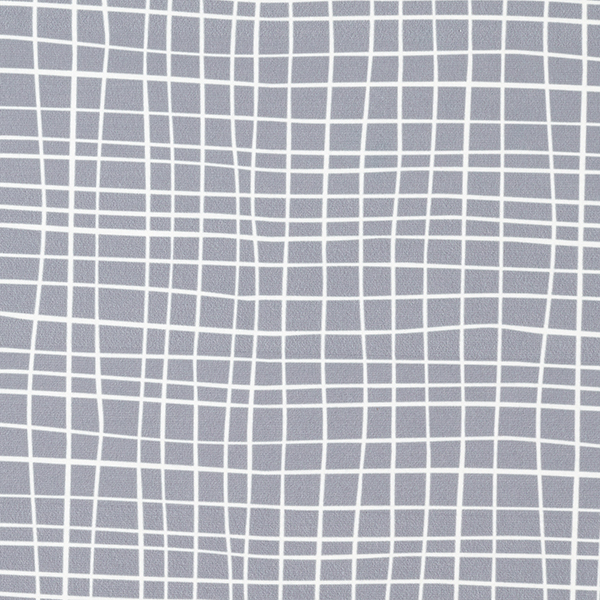 Albstoffe SHIELD PRO Antimikrobieller Jersey Grid – hellgrau/weiss