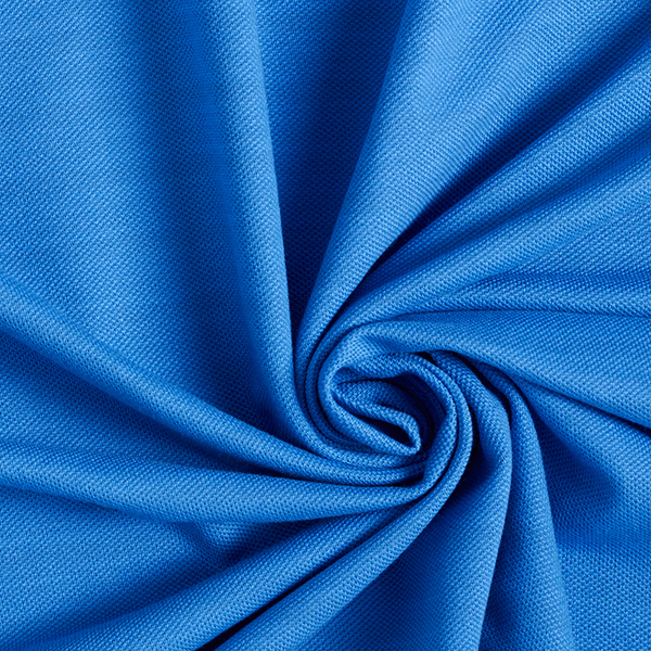 POLO ME Jersey Piqué uni GOTS – blau | Albstoffe | Hamburger Liebe