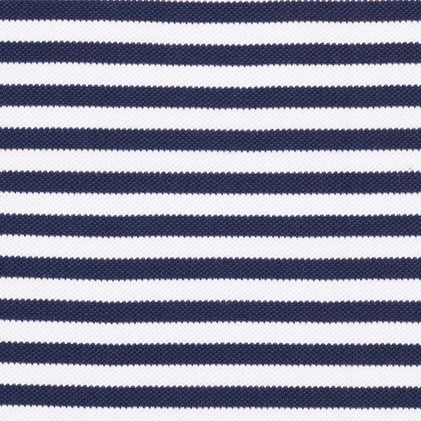 POLO ME Jersey Piqué Streifen GOTS – marineblau/weiss | Albstoffe | Hamburger Liebe