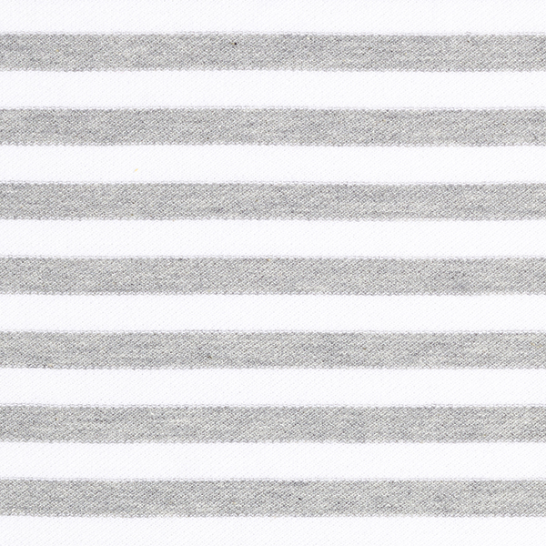 POLO ME Jersey piqué Rayures GOTS – gris/blanc | Hamburger Liebe