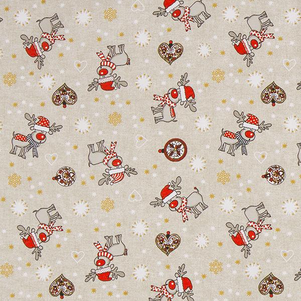 Tissu de décoration Canvas Rudolphe – beige