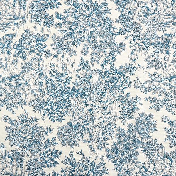 Tissu de décoration Canvas Toile de Jouy 280cm – bleu