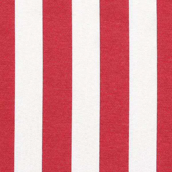 Tissu de décoration Canvas Rayures – rouge/blanc