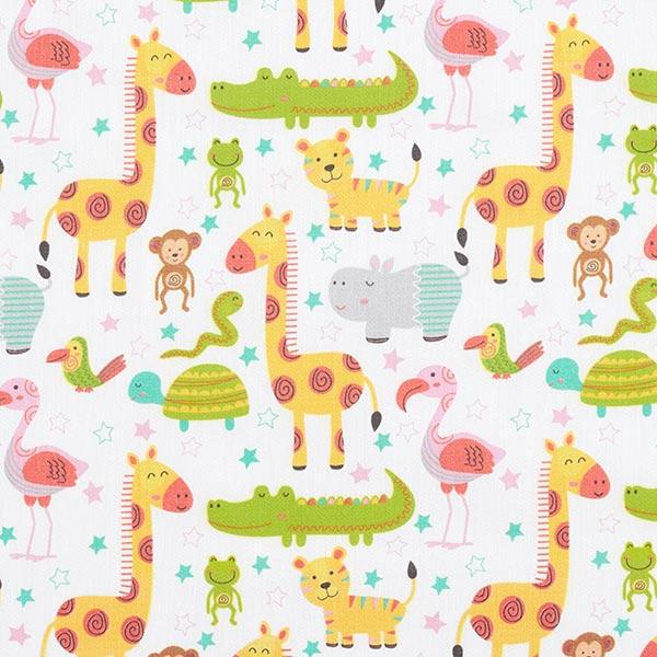 Tissu de décoration Satin de coton Animaux de safari