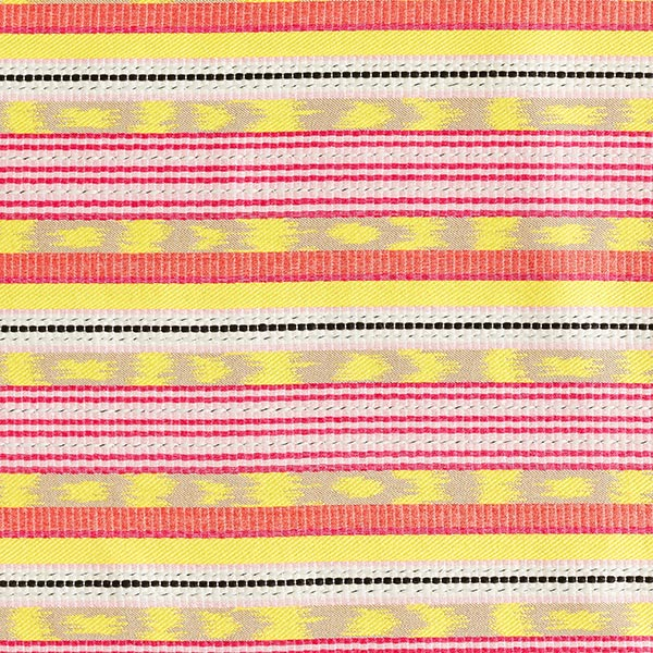 Jacquard Rayures – jaune/rose vif