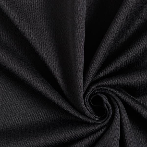 Hosenstoff mit Fleece-Innenseite Recycelt – schwarz