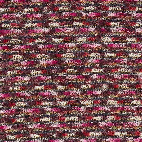 Tissu maille Chenaya – rose vif/marron