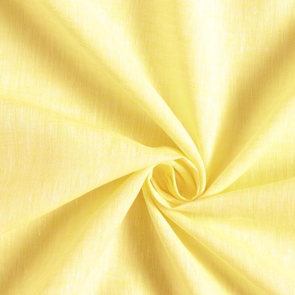 Tissu de lin léger uni – jaune clair