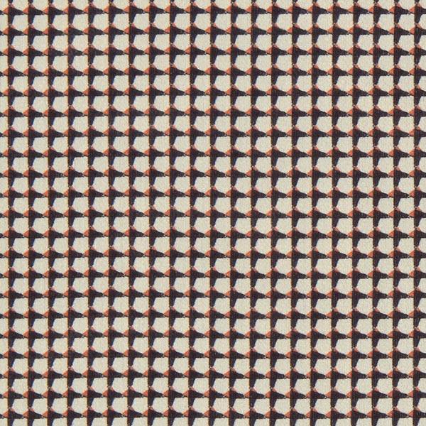 Crêpe chiffon Aspect pied-de-poule – orange/sable