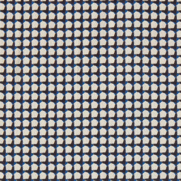 Crêpe Chiffon Hahnentritt Optik – königsblau/sand
