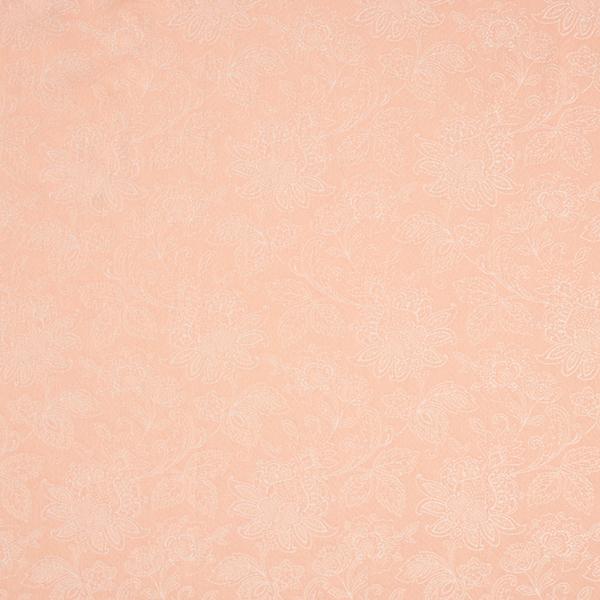Tissu jacquard stretch Ornements floraux – abricot
