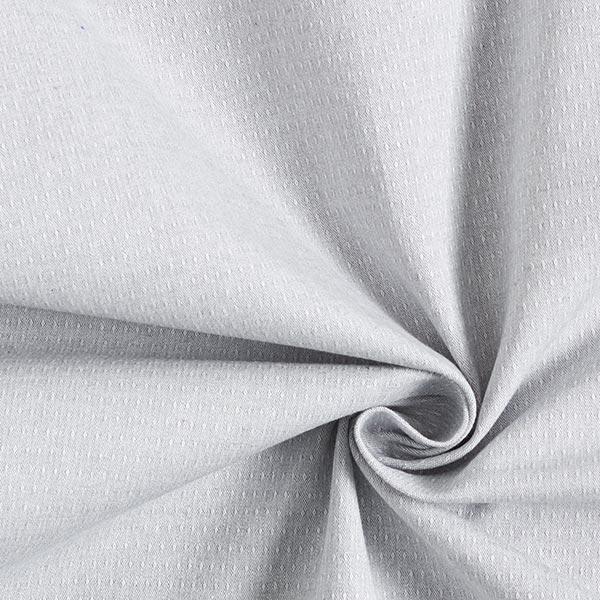 Tissu coton stretch structure – gris clair