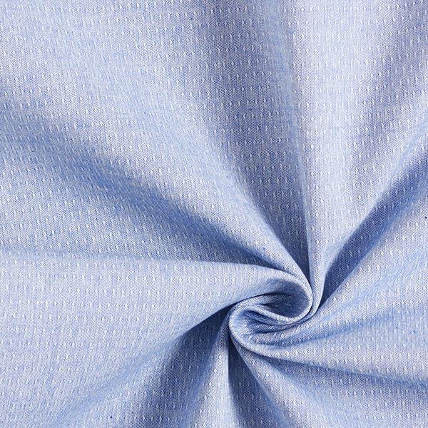 Tissu coton stretch structure – bleu clair