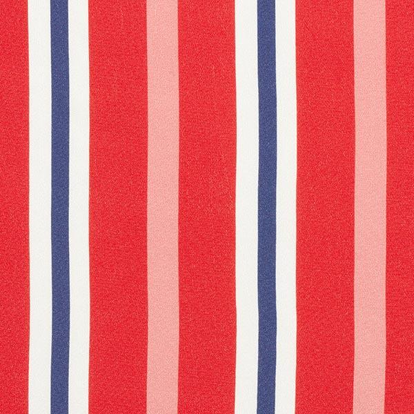 Georgette Viscose Rayures marines – rouge/bleu marine