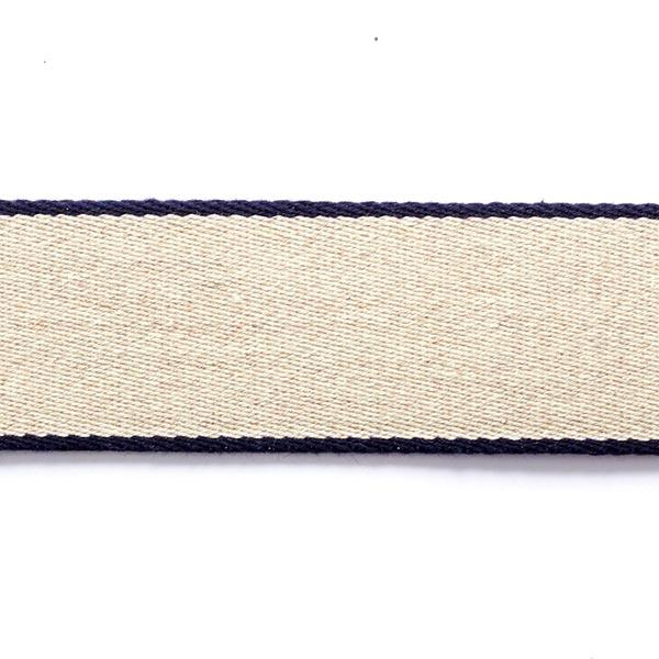 Gurtband Recycling  [ 3,5 cm ] – marineblau/beige