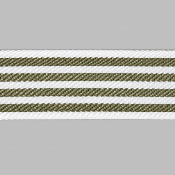 Sangle de sac Rayures - blanc / kaki