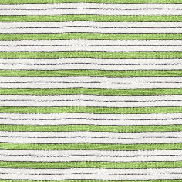 Bord-côtes coton Mix de rayures – vert pomme/blanc