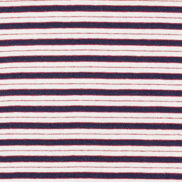 Bord-côtes coton Mix de rayures – bleu marine/blanc