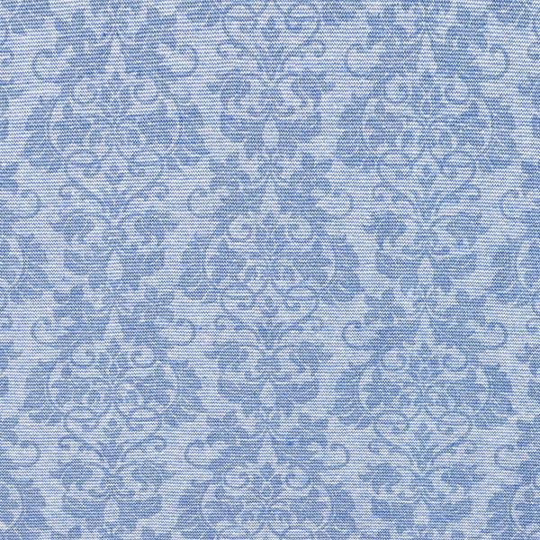 Baumwollbündchen Blumenornamente – jeansblau