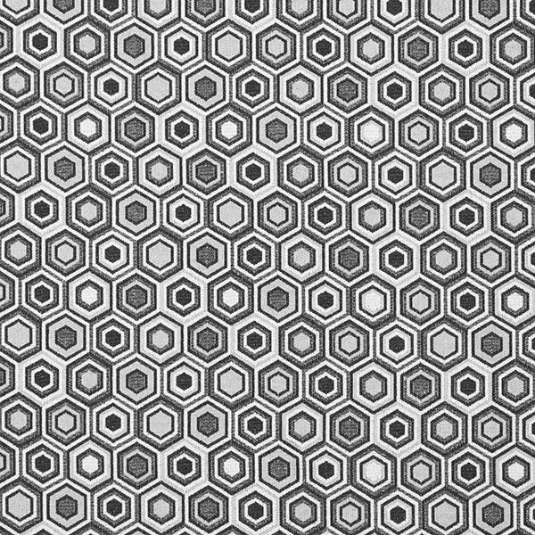 Dekostoff Jacquard Hexagon – schwarz
