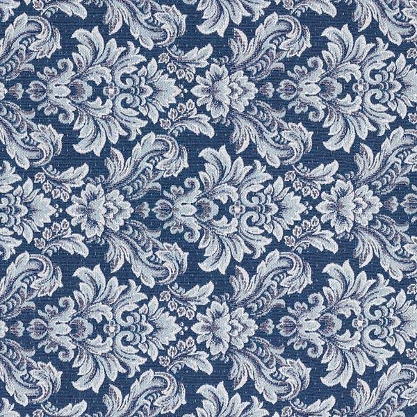 Tissu de décoration Jacquard Ornements – bleu