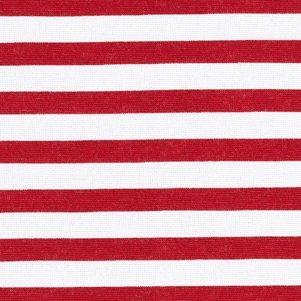 Dekostoff Canvas maritime Streifen – rot
