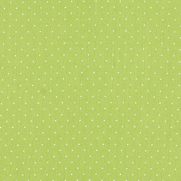 Satin de coton Petits points – vert herbe